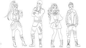 Descendants Coloring Character