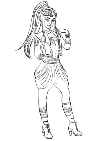 Descendants Wicked World Jordan Coloring Page