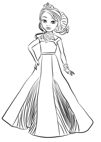 Disney Descendants Auradon Coronation Audrey Coloring Page